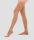 Компрессионные чулки женские плотные с микрофиброй и ажурным верхом размер L цвет бежевый VENOTEKS 2C202 размер L цвет бежевый