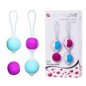 Шарики для упражнений кегеля из силикона Lybaile/Pretty Love balls silicone BI0199